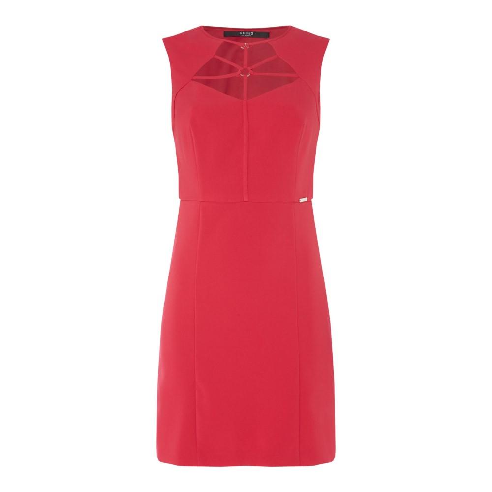 ゲス レディース ワンピース・ドレス ワンピース【Shift Dress With Buckle And Neck Detail】pink