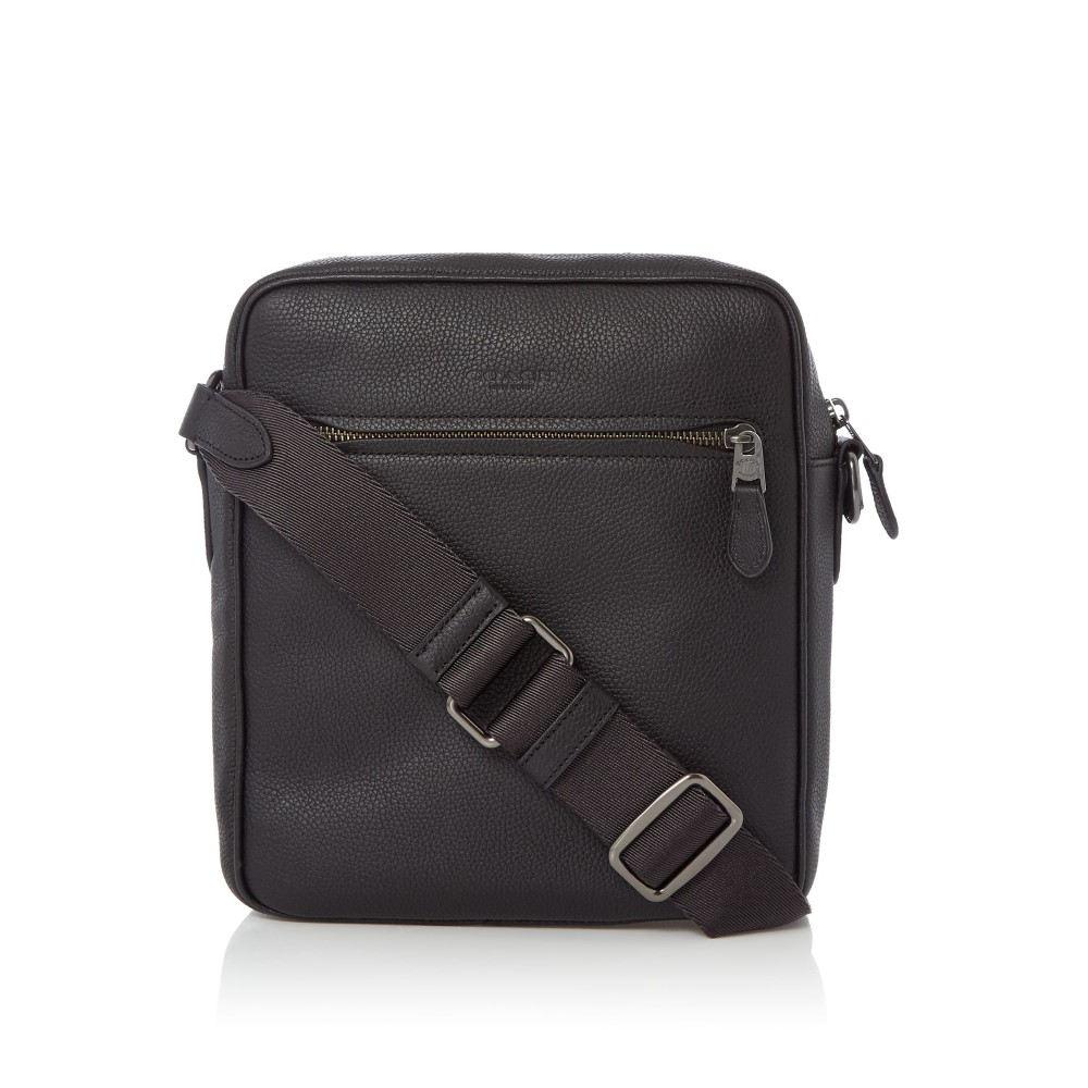 コーチ メンズ バッグ メッセンジャーバッグ【Metropolitan Pebble Leather Flight Bag】black