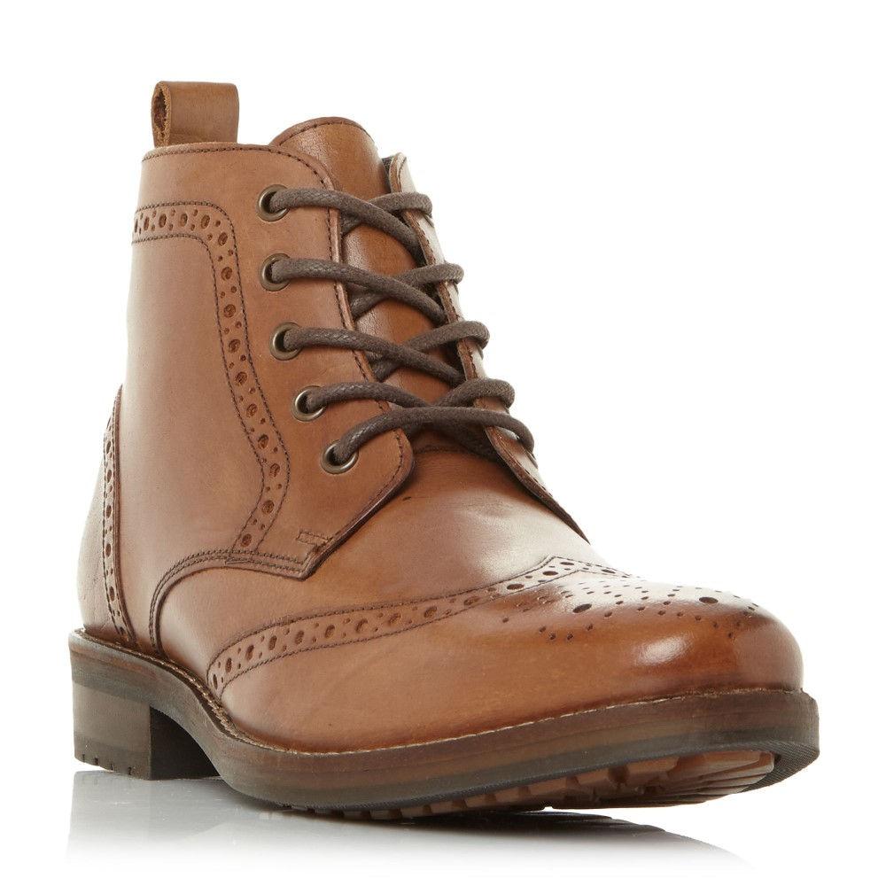 ハウィック メンズ シューズ・靴 ブーツ【Marcher1 Chisel Toe Brogue Boots】tan