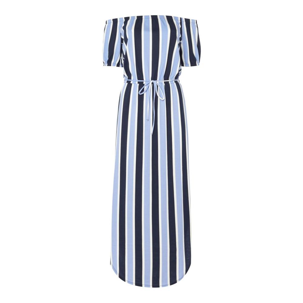 ジューシークチュール レディース ワンピース・ドレス ワンピース【Striped Off The Shoulder Maxi Dress】navy stripe