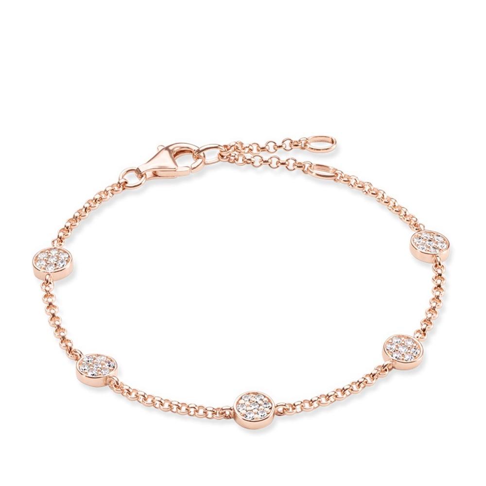 トーマスサボ レディース ジュエリー・アクセサリー ブレスレット【Sparkling Circles Pave Set Bracelet】white