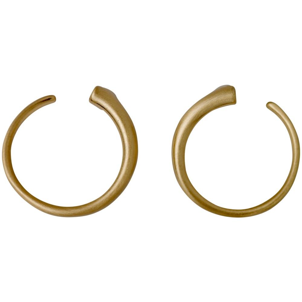 ピルグリム レディース ジュエリー・アクセサリー イヤリング・ピアス【Gorgeous Gold Plated Round Earrings】gold