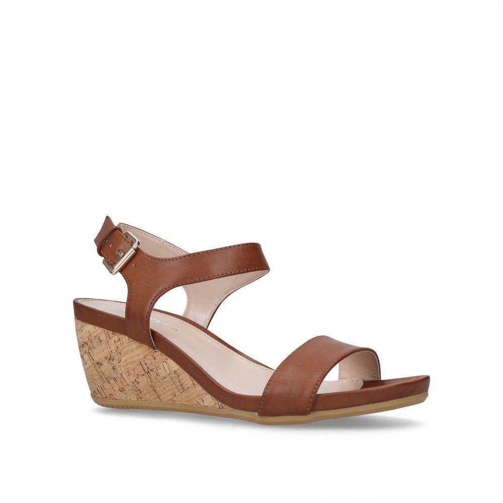 カーベラ レディース シューズ・靴 サンダル・ミュール【Sparkle Mid Heel Wedge Sandals】tan