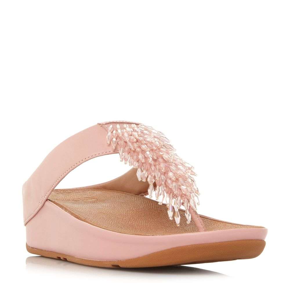 フィットフロップ レディース シューズ・靴 サンダル・ミュール【Rumba Beaded Top Post Sandal Shoes】pink