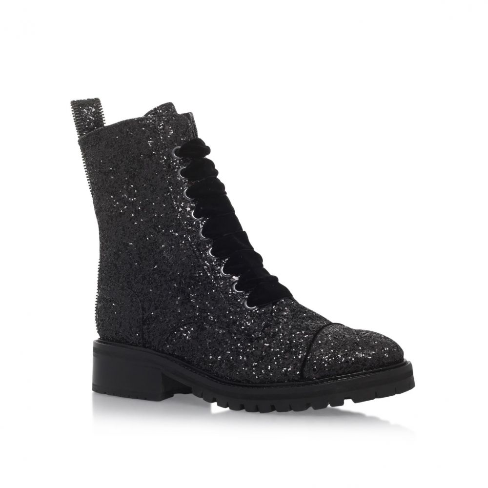 KG カートジェイガー レディース シューズ・靴 ブーツ【Sparkle Low Heel Lace Up Ankle Boots】black