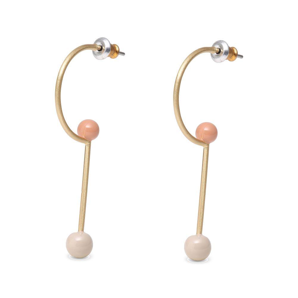 ピルグリム レディース ジュエリー・アクセサリー イヤリング・ピアス【Agnes Gold Plated Nude Earrings】beige
