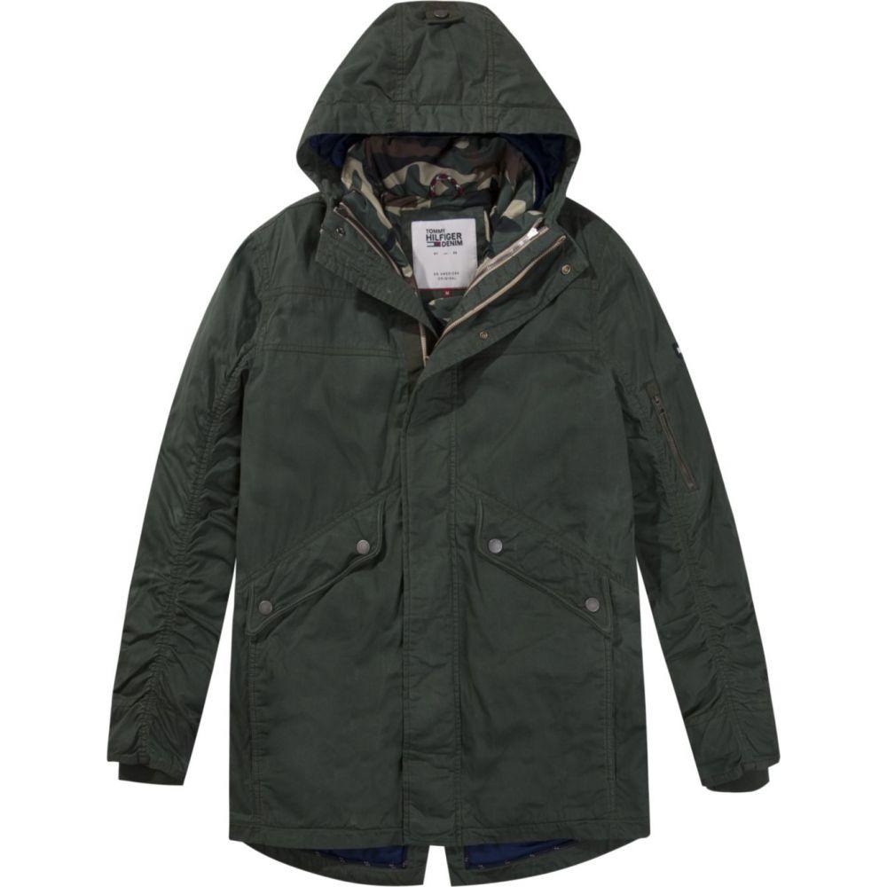トミー ヒルフィガー Tommy Hilfiger メンズ アウター ジャケット【Tommy Jeans 3in1 Utility Parka Jacket】forest green