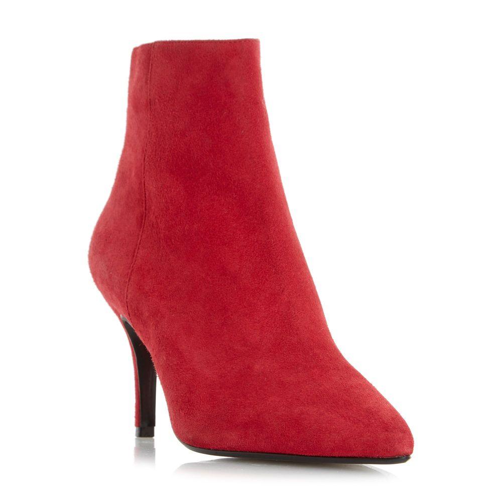 デューン Dune レディース シューズ・靴 ブーツ【Osha Clean Side Zip Point Ankle Boots】red