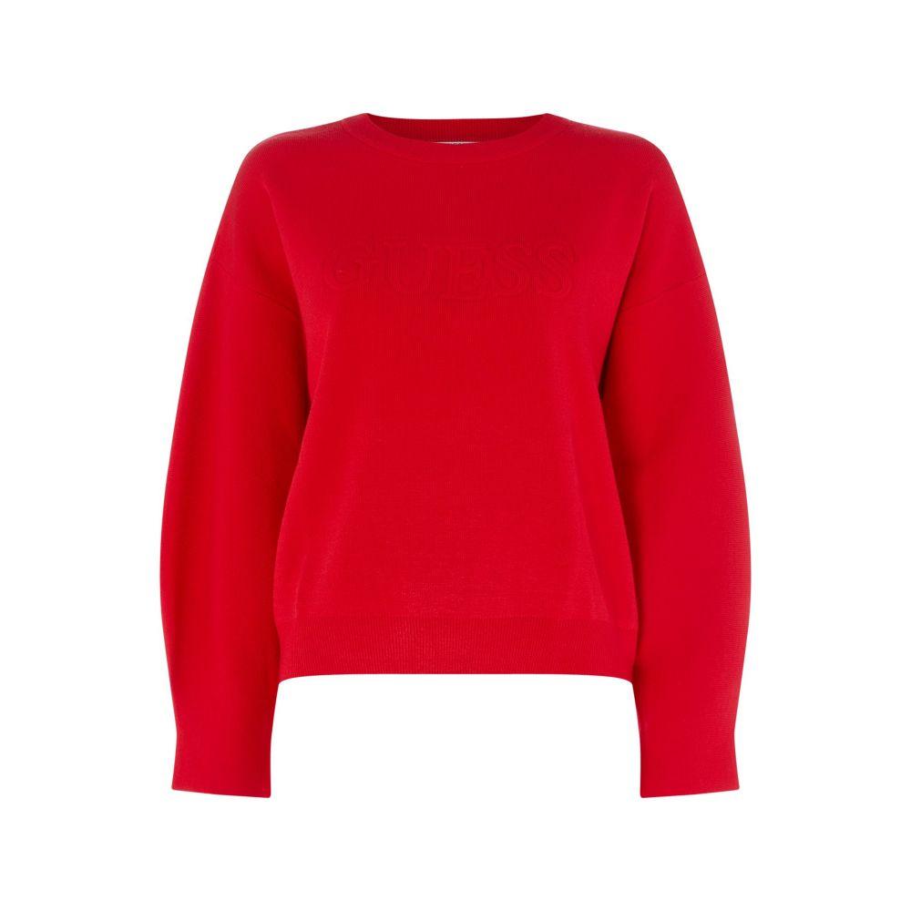ゲス Guess レディース トップス スウェット・トレーナー【Audrey Long Sleeve Sweatshirt】red