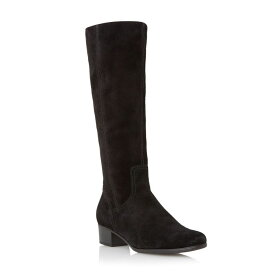 ガボール Gabor レディース シューズ・靴 ブーツ【Toye suede knee high flat boots】Black Suede