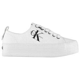 カルバンクライン Calvin Klein Jeans レディース シューズ・靴 スニーカー【Zolah Flatform Trainers】White