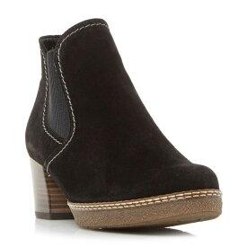 ガボール Gabor レディース シューズ・靴 ブーツ【Lilia Eslastic Gusset Heeled Boots】Black