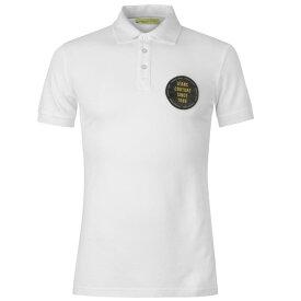 ヴェルサーチ Versace Jeans Couture メンズ トップス ポロシャツ【Versace 1989 Logo Polo Shirt】WHITE