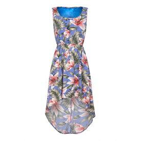 メラ ロンドン Mela London Curve レディース ワンピース・ドレス ワンピース【Tropical Print High Low Dress】Light Blue