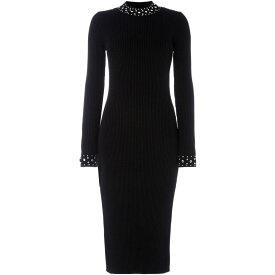 マイケル コース Michael Michael Kors レディース ワンピース・ドレス ワンピース【Embellished collar rib dress】Black