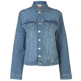 カッパ Kappa レディース アウター ジャケット【Boetino Denim Jacket】Blue/Beige