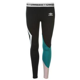 アンブロ Umbro レディース インナー・下着 スパッツ・レギンス【Colour Block Logo Leggings】BLACK/PARA/BLSH