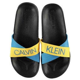 カルバンクライン Calvin Klein レディース シューズ・靴 サンダル・ミュール【CK Blue Yllw Slider】MARIGOLD/BLUE