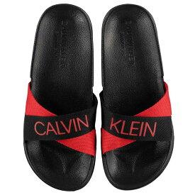 カルバンクライン Calvin Klein レディース シューズ・靴 サンダル・ミュール【CK Black Red Slider】BLACK/SCARLET