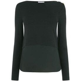 ウェアハウス Warehouse レディース トップス 【woven mix button shoulder top】Black