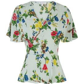ウェアハウス Warehouse レディース トップス 【verity floral angel sleeve top】Mint