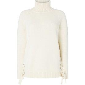 マイケル コース Michael Kors レディース ニット・セーター トップス【lacing sides knitwear】Off White