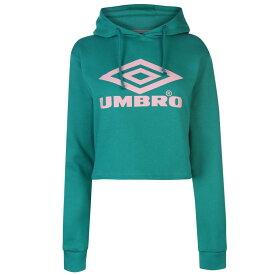 アンブロ Umbro レディース パーカー トップス【crop logo hoodie】PARASAIL/BLUSH