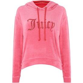 ジューシークチュール Juicy Couture レディース パーカー トップス【valentine gothic logo hooded pullover】Pink
