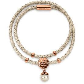 フォリフォリ Folli Follie レディース ジュエリー・アクセサリー ブレスレット【Santorini flower beige double bracelet】Rose Gold