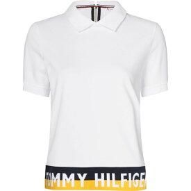 トミー ヒルフィガー Tommy Hilfiger レディース ポロシャツ トップス【khloe polo top】White