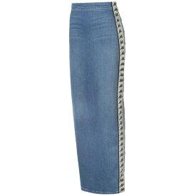 カッパ Kappa レディース スカート ロング・マキシ丈スカート【Banda Maxi Skirt】Blue/Beige