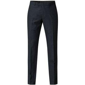 ライムハウス Limehaus メンズ スラックス ボトムス・パンツ【arnold navy donegal trousers】Navy