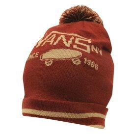 ヴァンズ Vans メンズ ニット ポンポン 帽子【patch pom pom beanie】Russet