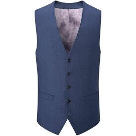 スコープス Skopes メンズ ベスト・ジレ トップス【leonard wool blend suit waistcoat】Royal Blue