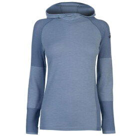 アディダス adidas レディース パーカー トップス【ClimaHeat Long Sleeve Hooded Top】Raw Grey