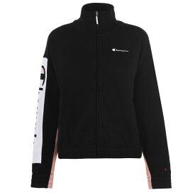 チャンピオン Champion メンズ ランニング・ウォーキング ジャージ アウター【Woven Logo Track Jacket】Black/Pink
