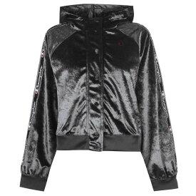 チャンピオン Champion メンズ ランニング・ウォーキング ジャージ アウター【Velour Track Jacket】Black