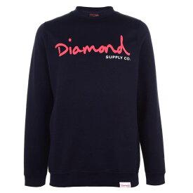 ダイアモンドサプライ Diamond Supply Co. メンズ スウェット・トレーナー トップス【Script Sweatshirt】Navy