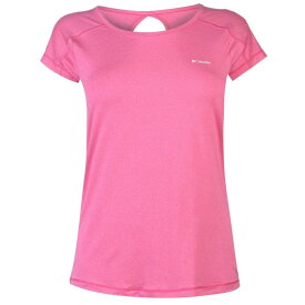コロンビア Columbia レディース ランニング・ウォーキング Tシャツ トップス【Peak T Shirt】Haute Pink