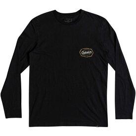 クイックシルバー Quicksilver メンズ 長袖Tシャツ トップス【Living On The Edge Long Sleeve Tshirt】Black