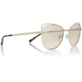 マイケル コース Michael Kors レディース メガネ・サングラス 【Black Mk1035 Cat Eye Sunglasses】Gold