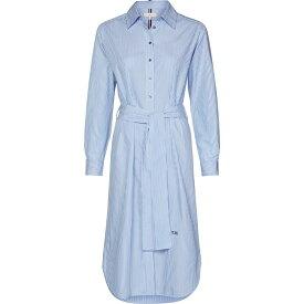 トミー ヒルフィガー Tommy Hilfiger レディース ワンピース ワンピース・ドレス【Essential Shirt Midi-Dress】Blue
