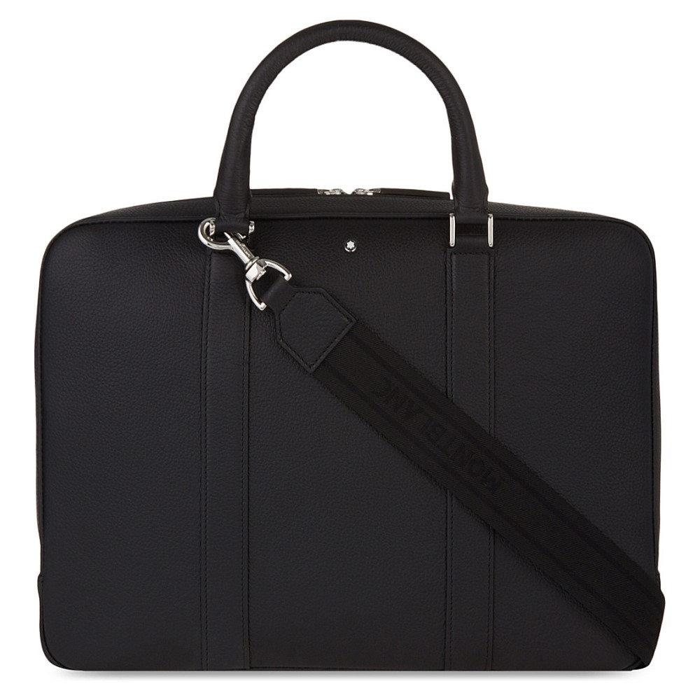 モンブラン montblanc メンズ バッグ ブリーフケース【meisterstuck soft grain leather document case】Black