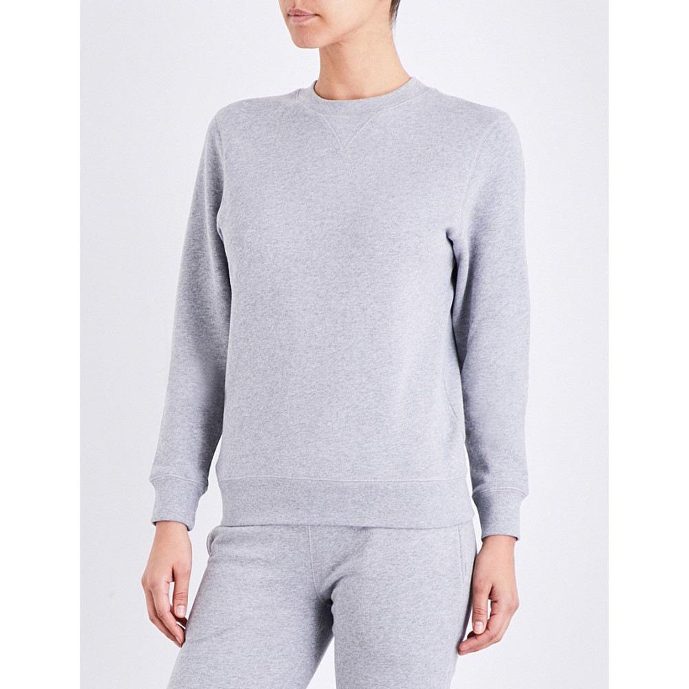 サンスペル sunspel レディース トップス トレーナー【round-neck cotton-jersey sweatshirt】Grey melange