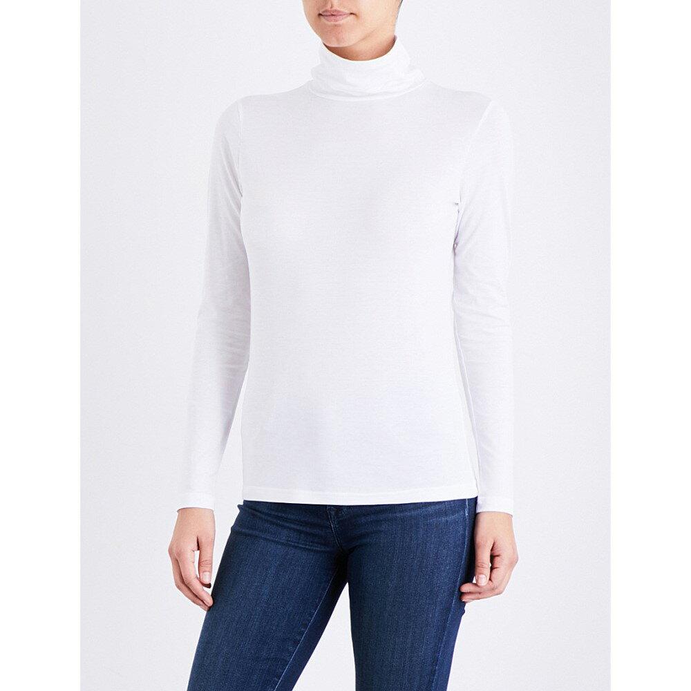 サンスペル sunspel レディース トップス 長袖シャツ【turtleneck cotton-jersey top】White