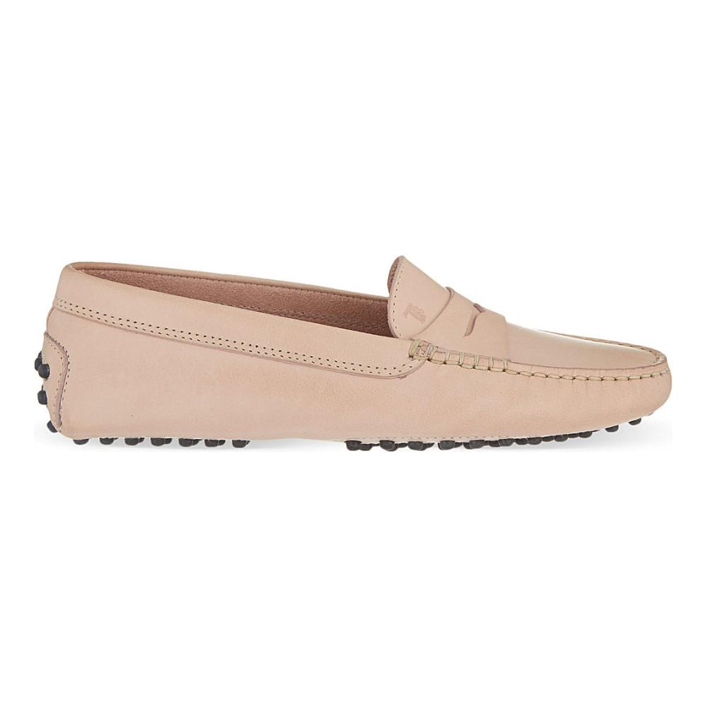 トッズ tods レディース シューズ・靴 ローファー【mocassino leather loafers】Nude
