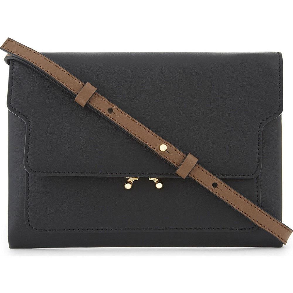 マルニ marni レディース バッグ ショルダーバッグ【trunk pouch leather bag】Black brown
