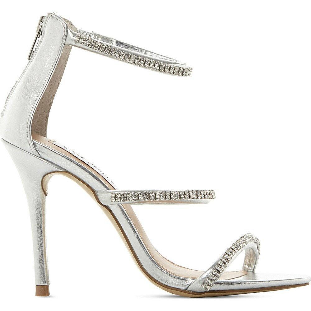 スティーブ マデン steve madden レディース シューズ・靴 サンダル・ミュール【wren-r metallic strappy sandals】Silver-synthetic