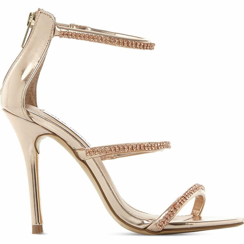 スティーブ マデン steve madden レディース シューズ・靴 サンダル・ミュール【wren-r metallic strappy sandals】Rose gold-synthetic
