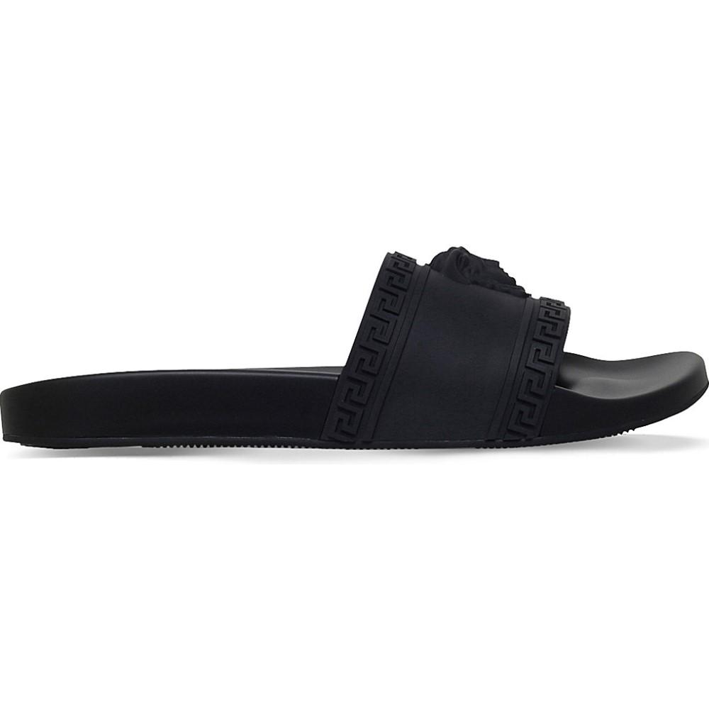 ヴェルサーチ versace レディース シューズ・靴 サンダル・ミュール【medusa rubber sliders】Black